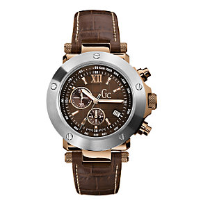 Gc men's chronograph strap watch - 44mm outsized dial - Product number 6463991