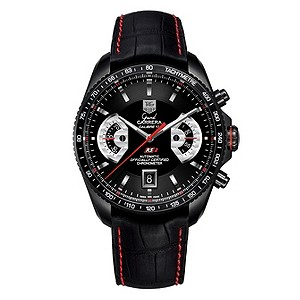 TAG Heuer Grand Carrera titanium black strap watch - Product number 6467180