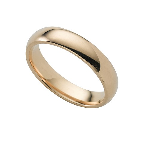 18ct gold super heavy 4mm court ring