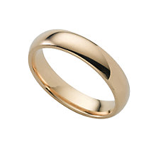 18ct gold super heavy 4mm court ring - Product number 6471374