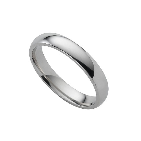 Platinum super heavy 4mm wedding ring