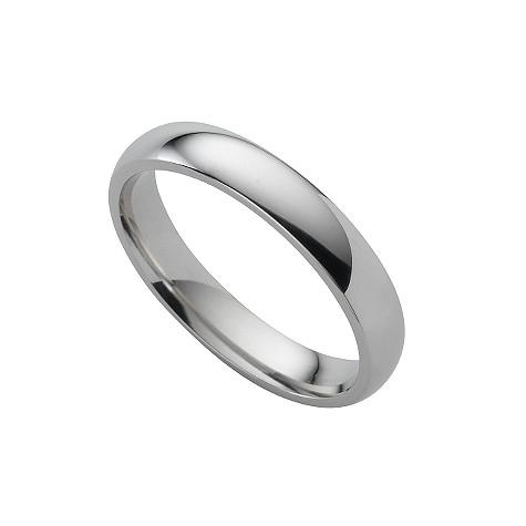 Platinum super heavy 4mm wedding ring