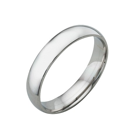 18ct white gold extra heavy 4mm court ring