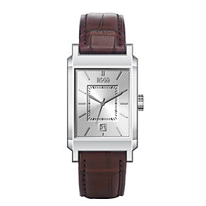 Hugo Boss men's brown leather strap watch - Product number 6473288