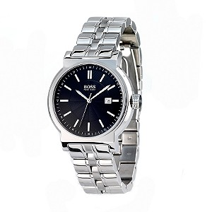 Hugo Boss men's stainless steel black dial bracelet watch - Product number 6473318