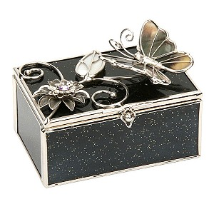 The Juliana Collection Black Glitter Trinket Box - Product number 6477496