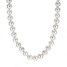 Sea Mist 9ct gold 6-6.5mm cultured pearl necklace - Product number 6481914