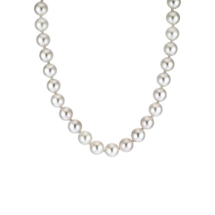 Sea Mist 9ct Gold 6.5-7mm cultured pearl necklace - Product number 6481922