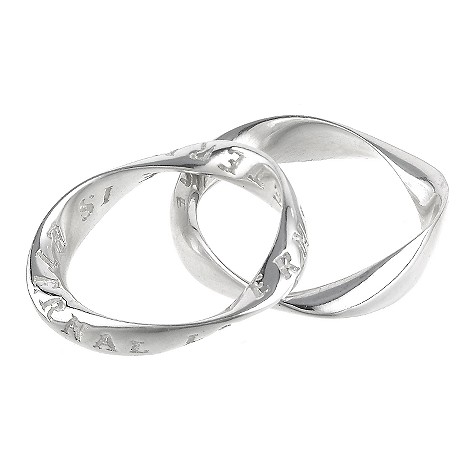 Eternal silver double legend rings - size M