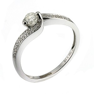 18ct White Gold Quarter Carat Diamond Solitaire Ring
