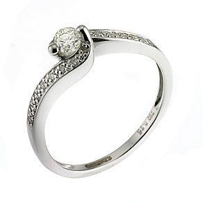 18ct White Gold Quarter Carat Diamond Solitaire Ring - Product number 6482902