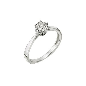 9ct White Gold 0.20 Carat Multi Stone Diamond Ring