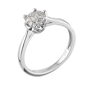 9ct White Gold Third Carat Diamond Cluster Ring - Product number 6489648