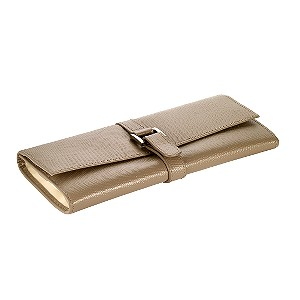 Leather Mink Coloured Jewellery Roll - Product number 6500617