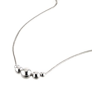 Sterling Silver 5 Bead Necklace