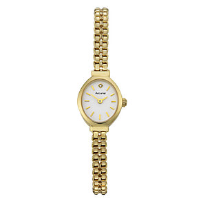 Accurist Gold Ladies' 9ct Gold Diamond Set Bracelet Watch - Product number 6510191