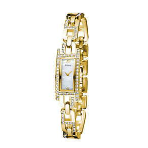 Accurist Ladies' Gold Plated Stone Set Bracelet Watch - Product number 6510612