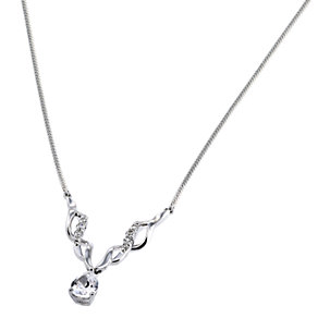 9ct White Gold Cubic Zirconia Pendant - Product number 6513026