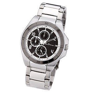 Men` Stainless Steel Multi Dial Watch