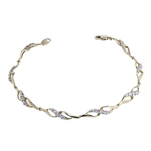 9ct Yellow Gold Cubic Zirconia Bracelet - Product number 6513255