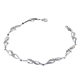 9ct White Gold Cubic Zirconia Bracelet - Product number 6513298