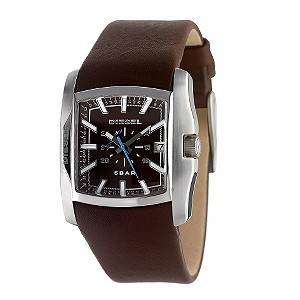 Diesel Men's Brown Dial Rectangular Strap Watch - Product number 6513719