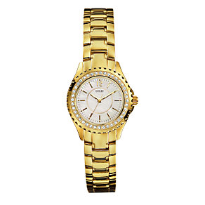 Guess Ladies' Gold-Plated Bracelet Watch - Product number 6514340