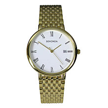 Sekonda Men's Gold-Plated Bracelet Watch - Product number 6514634