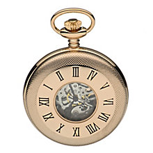 Men's Rose Gold Plated Skeleton Pocket Watch - Product number 6514650