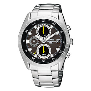 Lorus Men's Grey Dial Chronograph Bracelet Watch - Product number 6515622