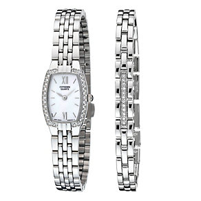 Citizen Ladies' Stone Set Bracelet and Watch Set - Product number 6516378
