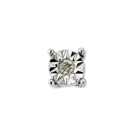 Mens 9ct white gold diamond stud earring product image
