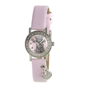JK Me To You Girl` Tatty Teddy Heart Charm Pink Strap Watch