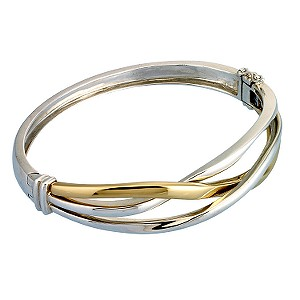 The silver & 9ct gold bangle - Product number 6520006