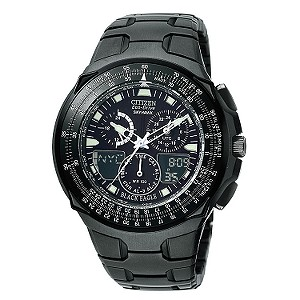 Citizen Eco-Drive Skyhawk Men's Black Bracelet Watch - Product number 6520316