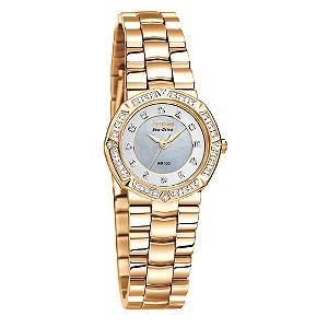 Citizen ladies' rose gold and stone set watch - Product number 6521991
