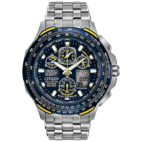 Citizen Eco Drive Skyhawk chronograph bracelet watch