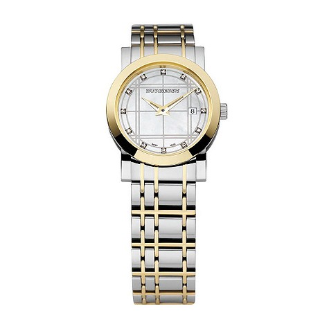 ladies two colour diamond set watch
