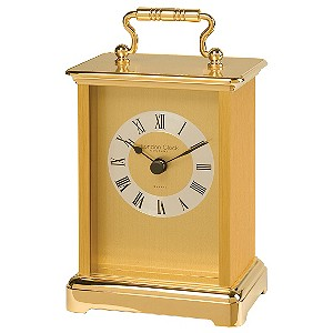 H Samuel Traditional Brass Mantle Carriage Clock