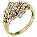 9ct Yellow Gold Cubic Zirconia Cluster Ring - Product number 6545572