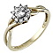 9ct Yellow Gold Cubic Zirconia Ring - Product number 6545726