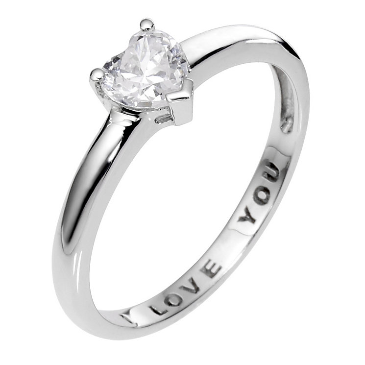 9ct White Gold I Love You Ring - Product number 6548105