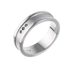 Hot Diamonds Sterling Silver Matt Polished Ring - Medium