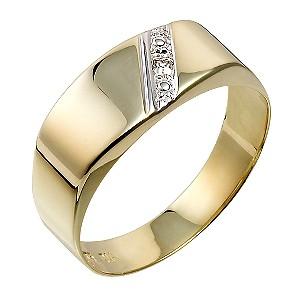9ct Yellow Gold Diamond Set Ring