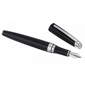 Caran d'Ache Leman ebony black fountain pen medium - Product number 6562345