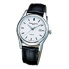 Frederique Constant men's black leather strap watch - Product number 6563201