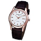 Frederique Constant men's brown leather strap watch - Product number 6563228