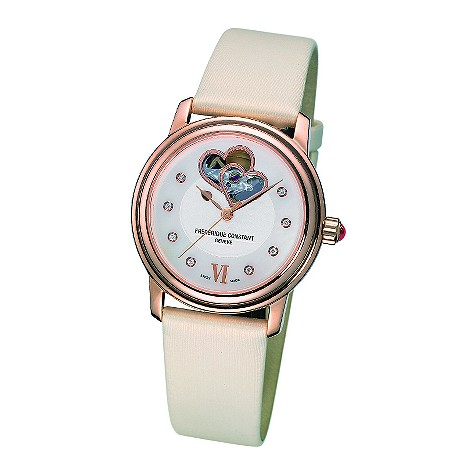 Frederique Constant ladies' diamond set heart dial watch - FC310DHB2P4