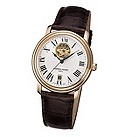 Frederique Constant men's brown leather strap watch - Product number 6563279