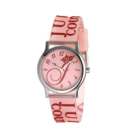 Juicy Couture Princess pink jelly watch